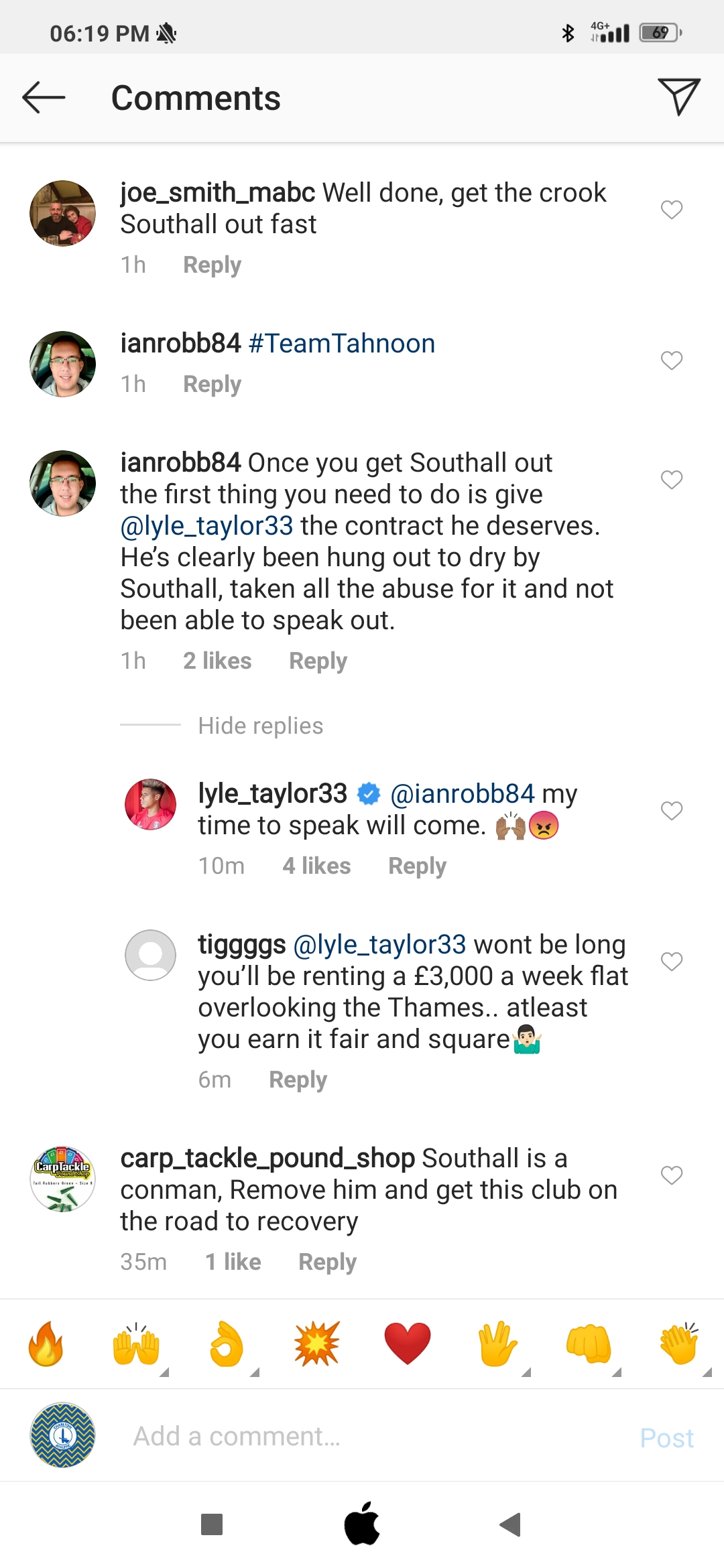 Comment from Lyle