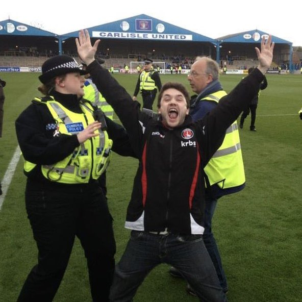 On the pitch at Carlisle
