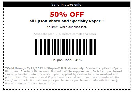 Enabler Alert Staples 50% off, clear report covers, binding