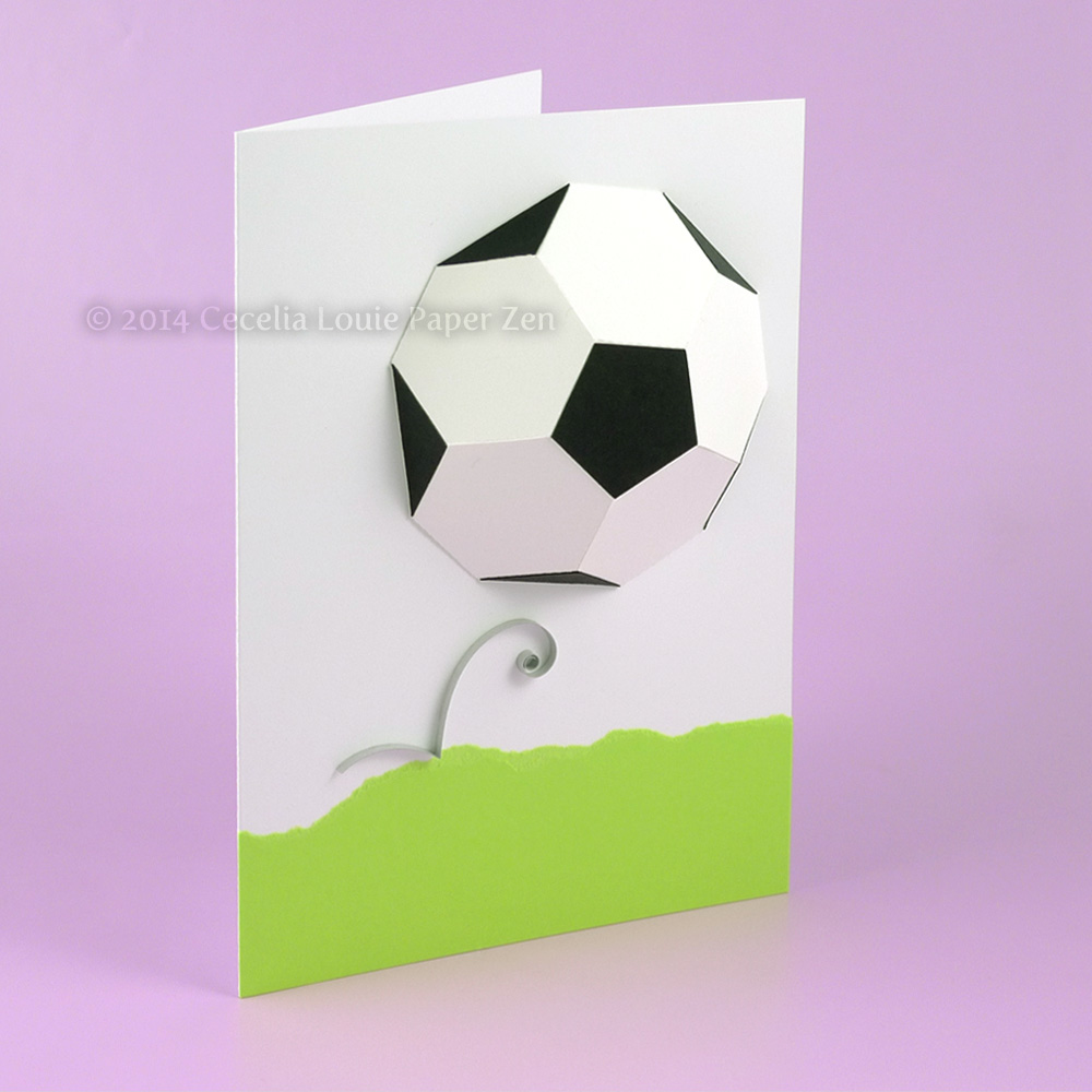 3d soccer ball birthday card make the cut forum
