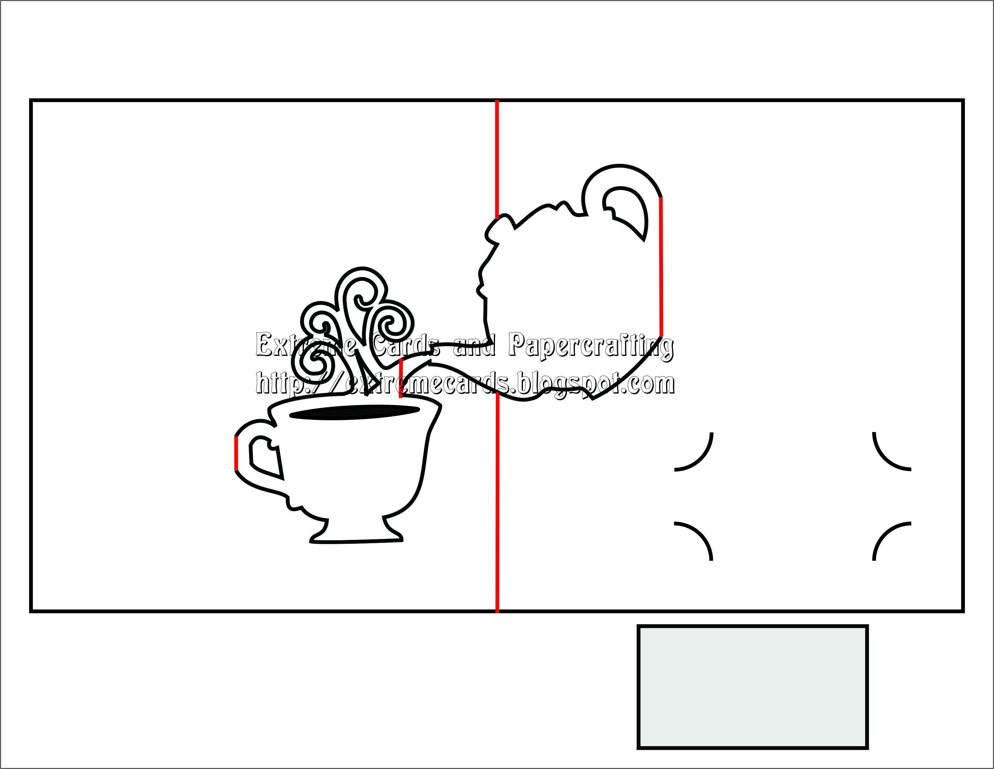 Днем, объемная открытка с кофе