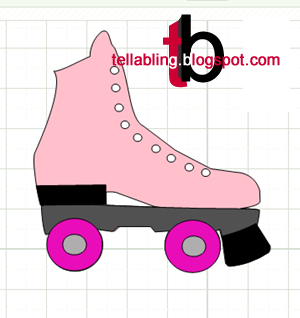 free roller skate mtc svg paper piecing and print and cut make