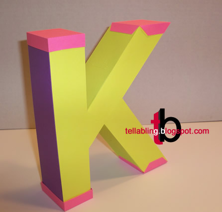 Free 3D Block Letter K (MTC, WPC, SVG) — Make The Cut! Forum
