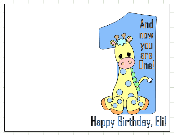 Happy 1st Birthday Eli Make The Cut Forum – Happy 1st Birthday Card