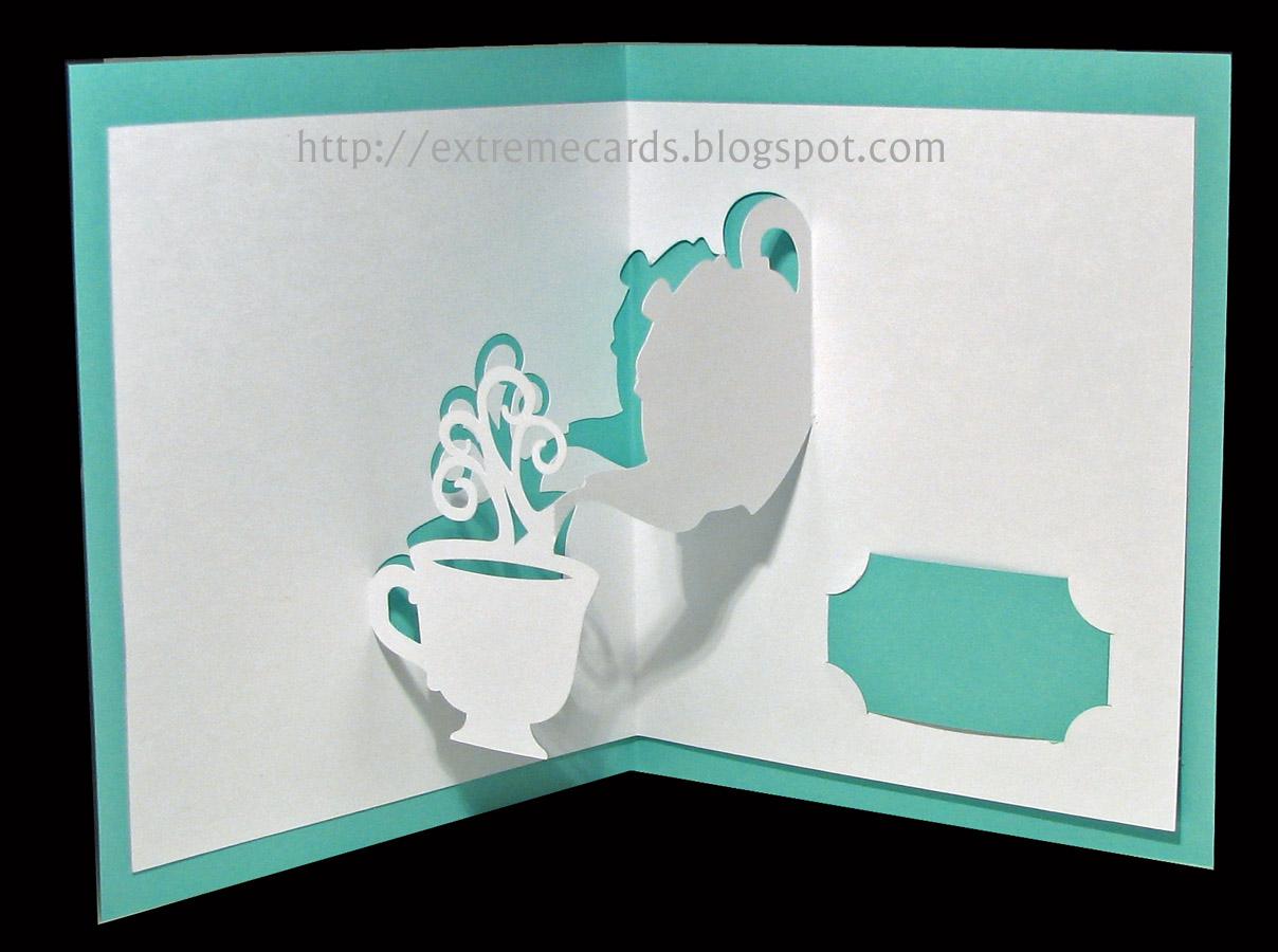 Pop up открытка шаблон