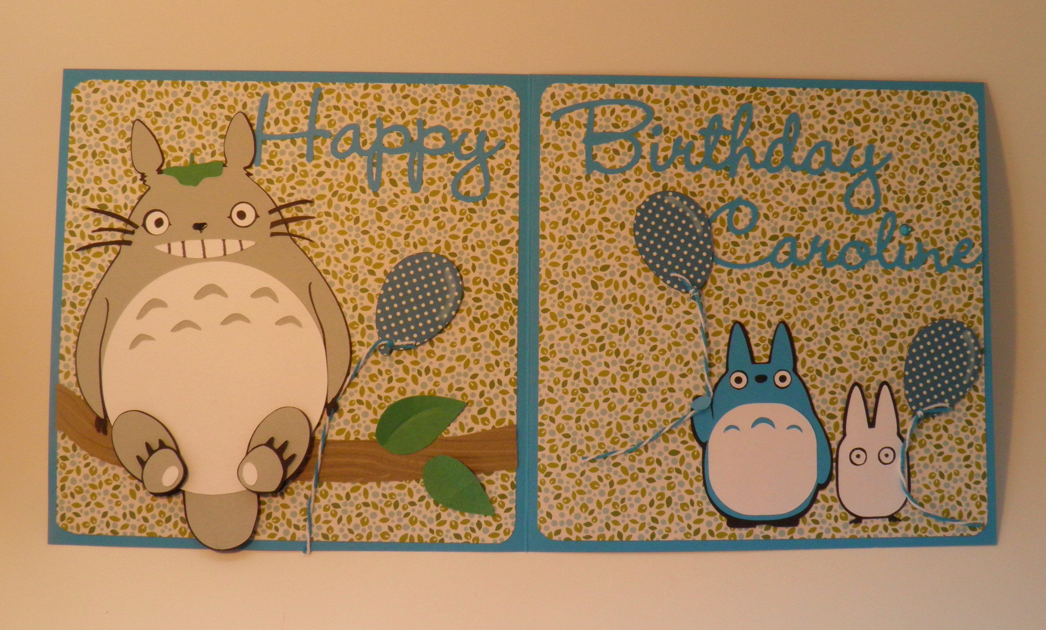 Totoro card Make The Cut Forum – Totoro Birthday Card