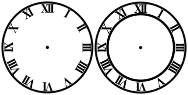 i need an svg of a roman numeral clock make the cut forum