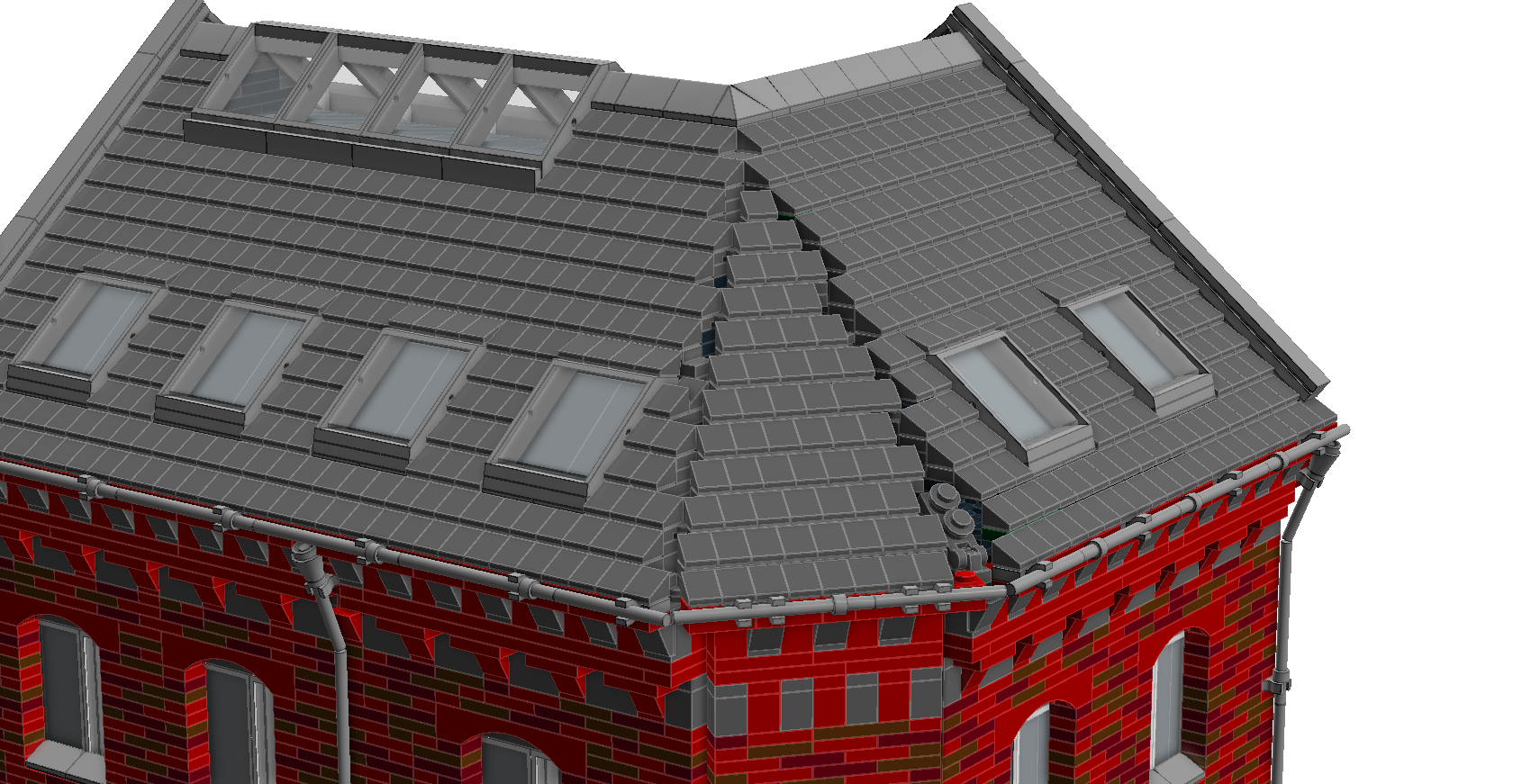 Help On Connecting Roof Tiles At Weird Angle Brickset Forum