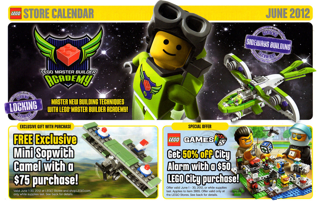 US] LEGO Store Calendar June 2012 — Brickset Forum
