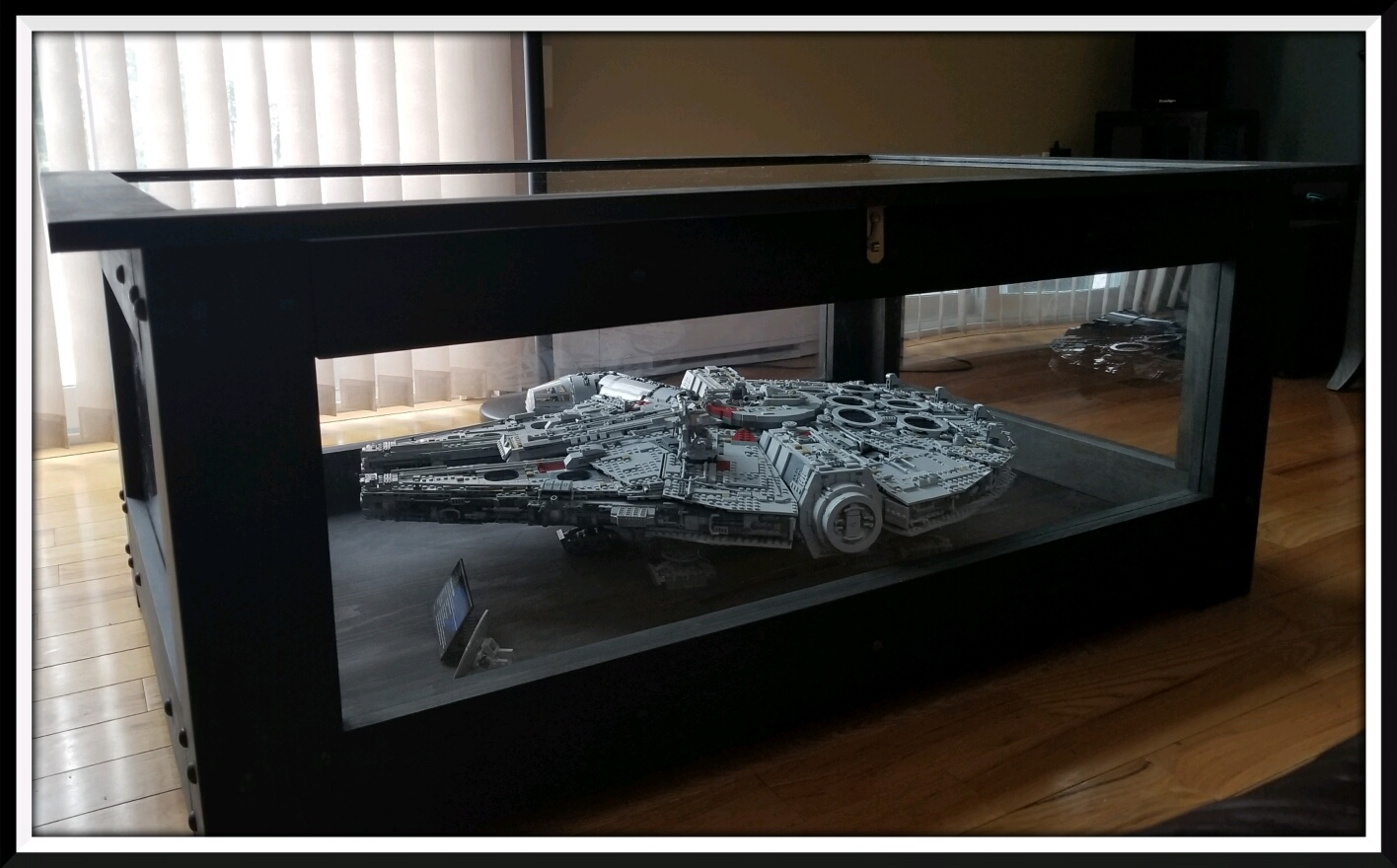 The Millennium Falcon UCS 75192 Lego Set Has Found Its Home Inside Our This Display Table