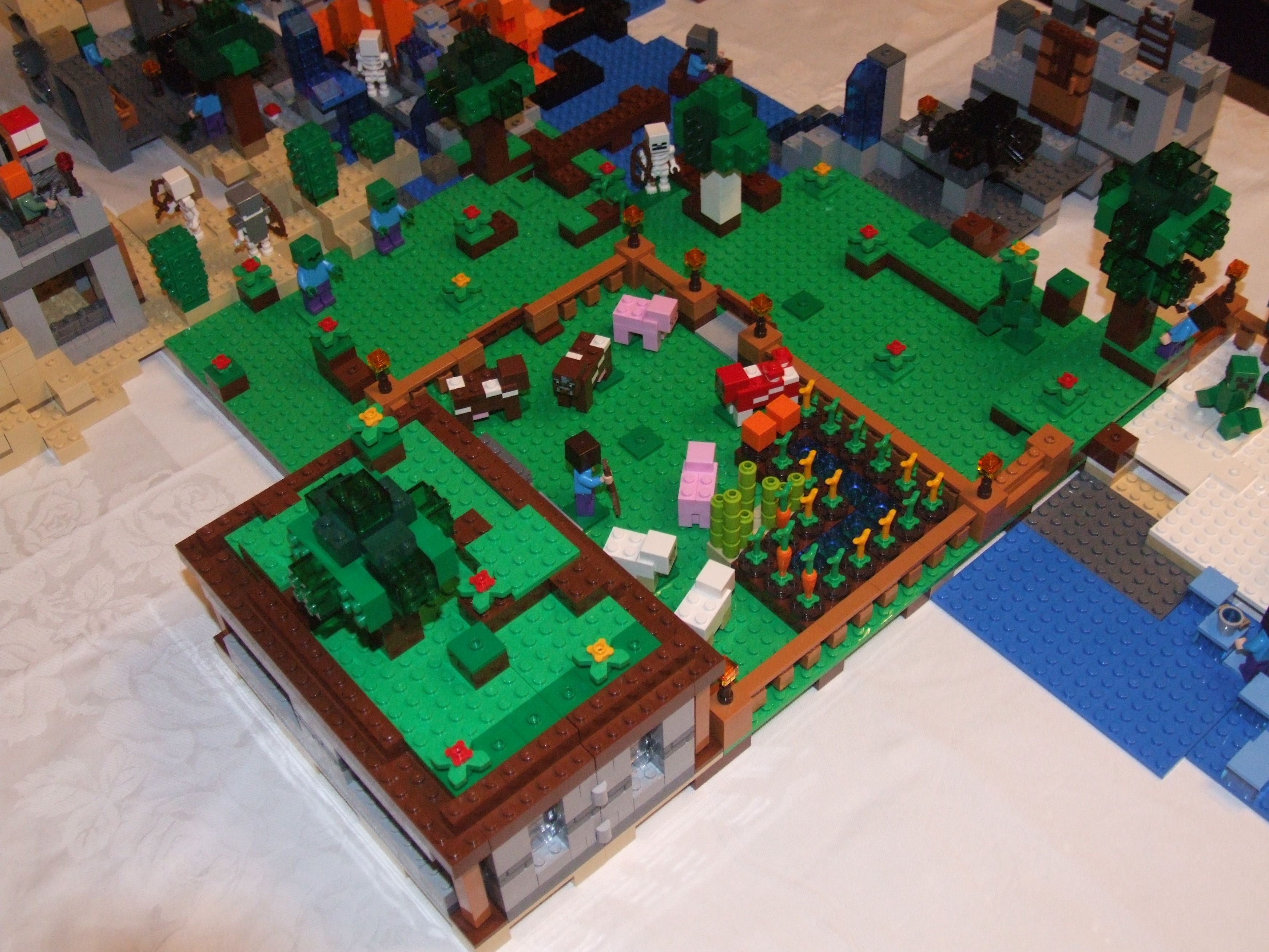how to make a lego minecraft villager house