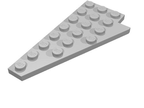 LEGO 3933a old gray Light Gray Wedge Plate 8 x 4 Wing Left without Underside St