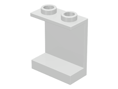 Lego 1 White 2x2 printed sloped brick block window looking into space