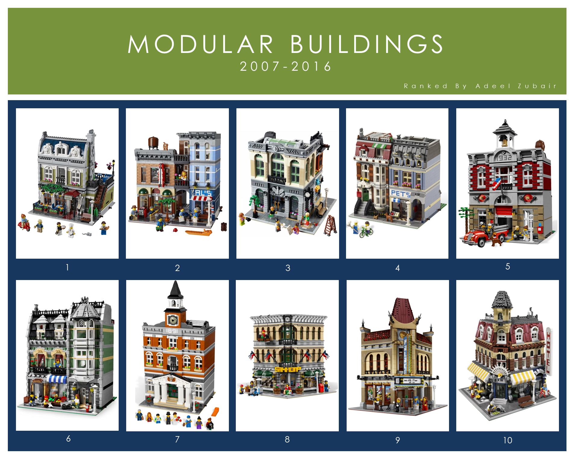 Ranking The Lego Modular Buildings 1 11 Brickset Forum