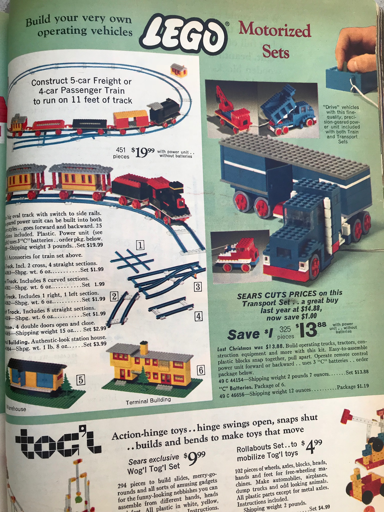 Sears Christmas Catalog.1969 Sears Christmas Catalog Lego Pages Brickset Forum