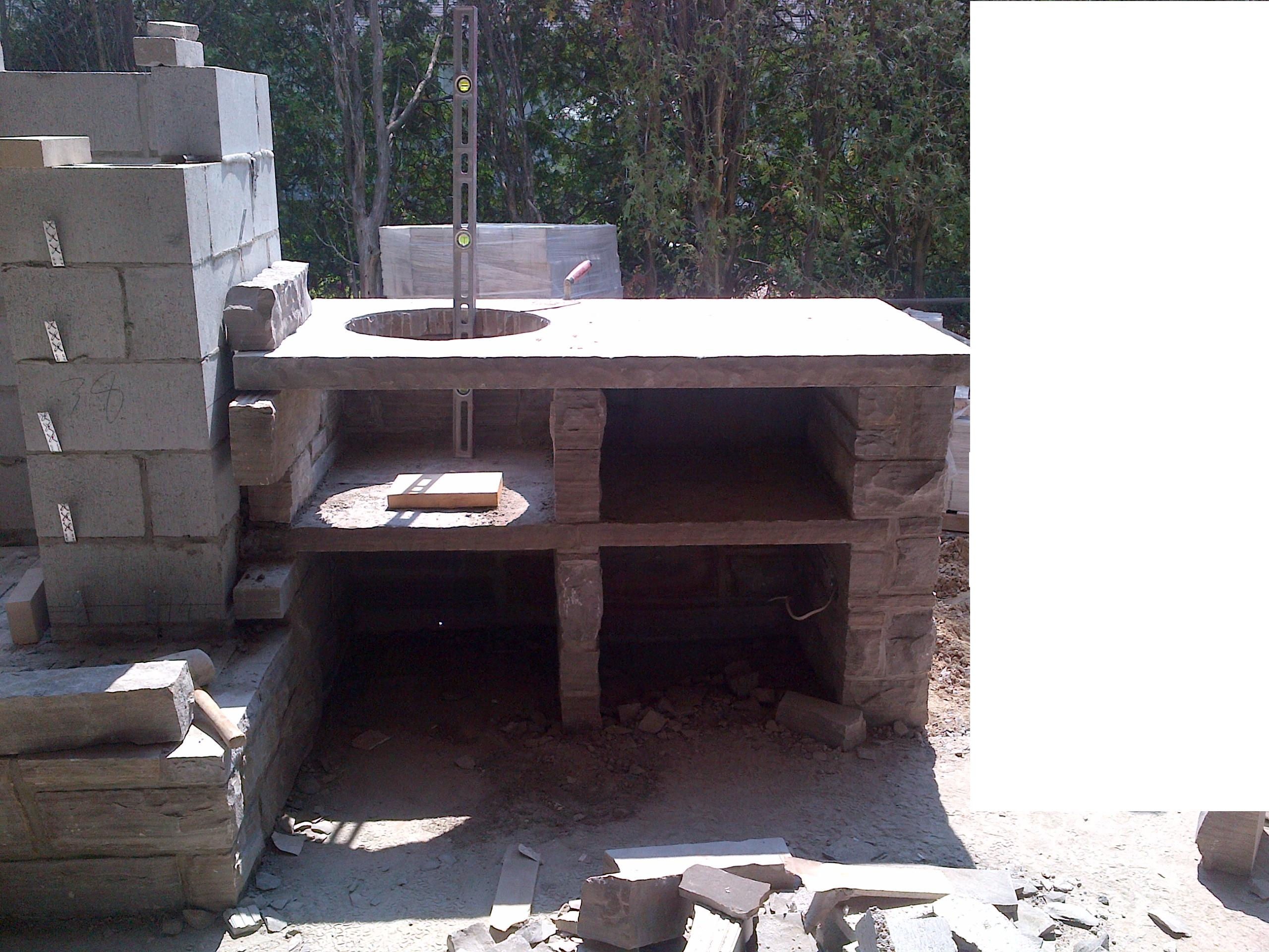 Big Green Egg Stone Table Plans Designs