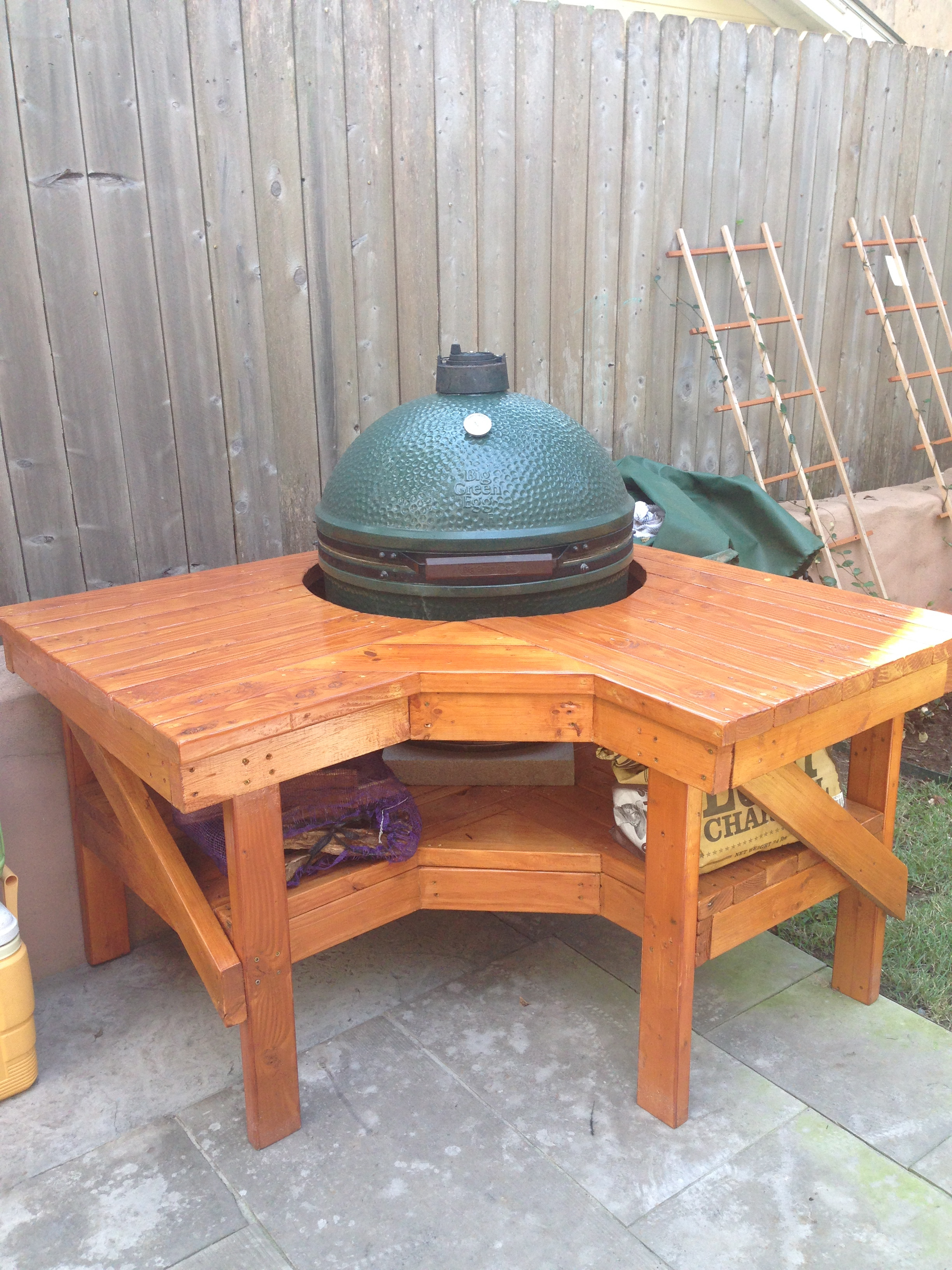 IMG 3818. New Big Green Egg Table Designs from Bird Dog Wood Designs   Big