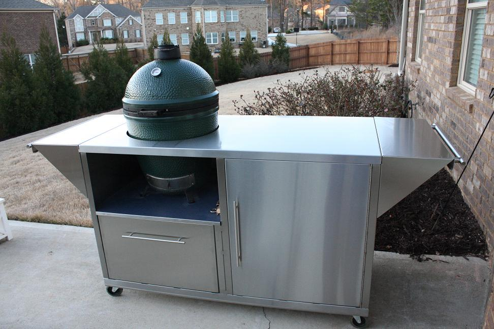 New Stainless table/cabinet from BGE — Big Green Egg ...