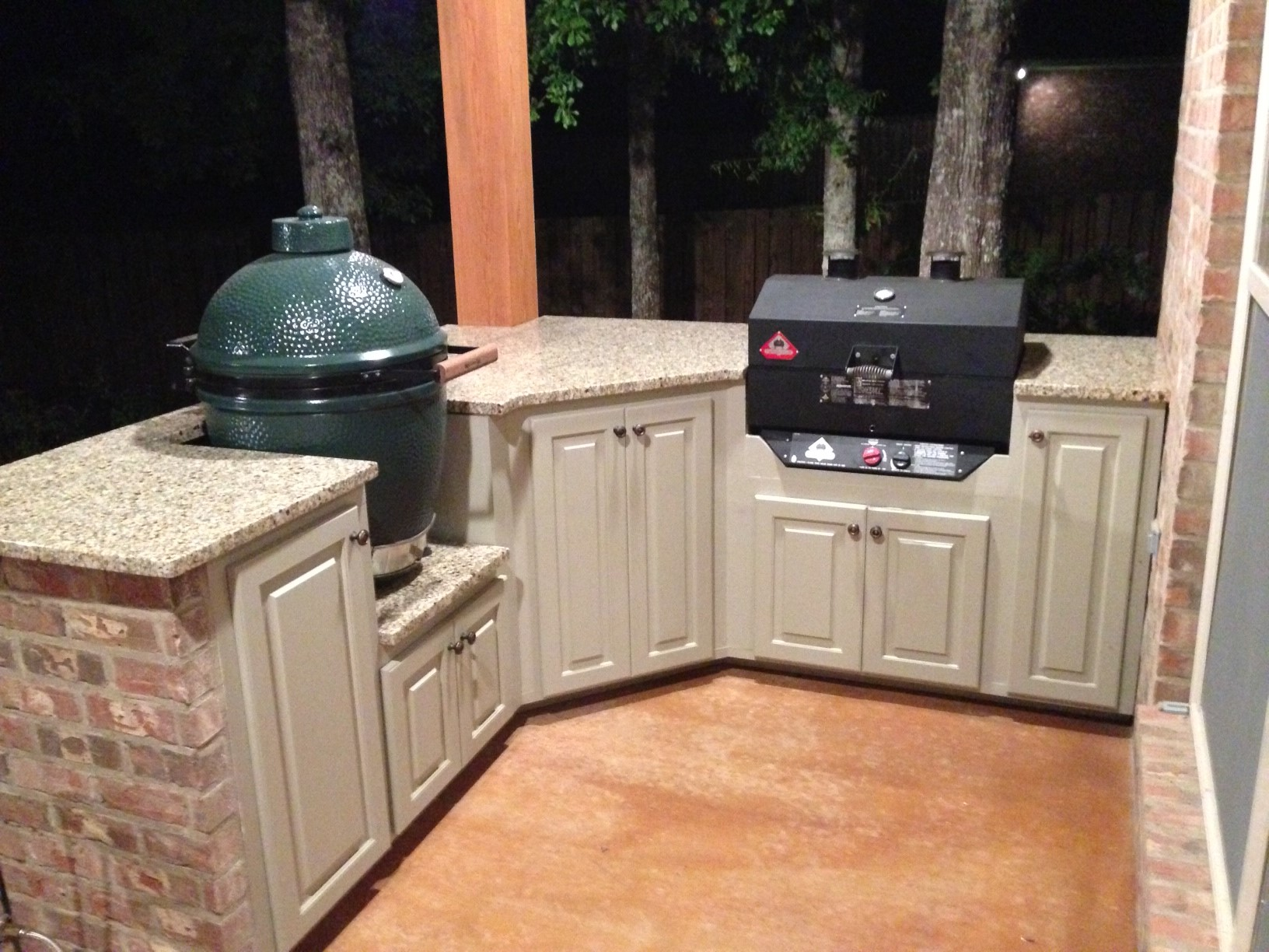 Outdoor Kitchen Finished Big Green Egg Egghead Forum The Ultimate Cooking Experience