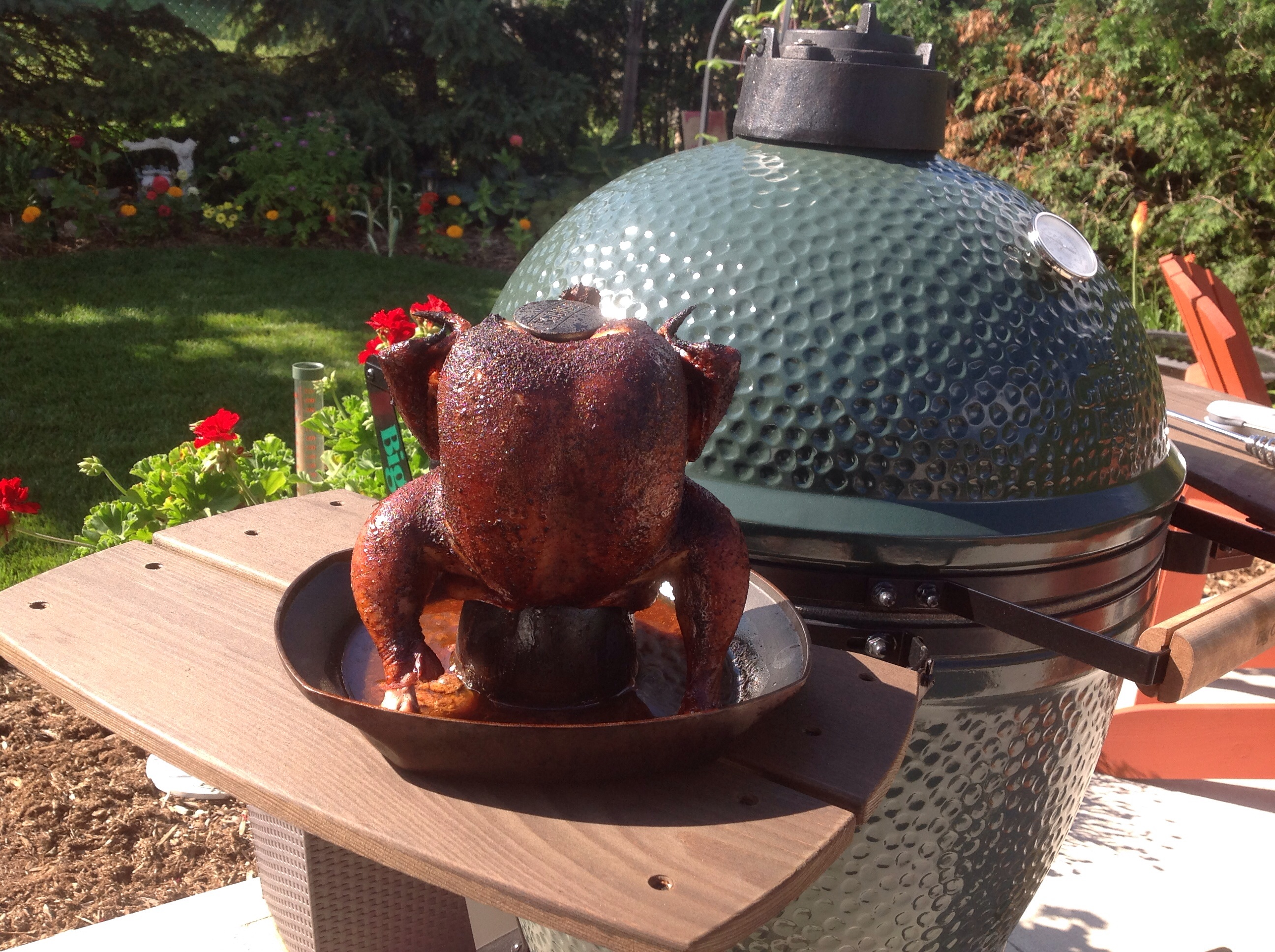 Today's Cook: Homemade Bread and Beer Butt Chicken — Big Green Egg ...