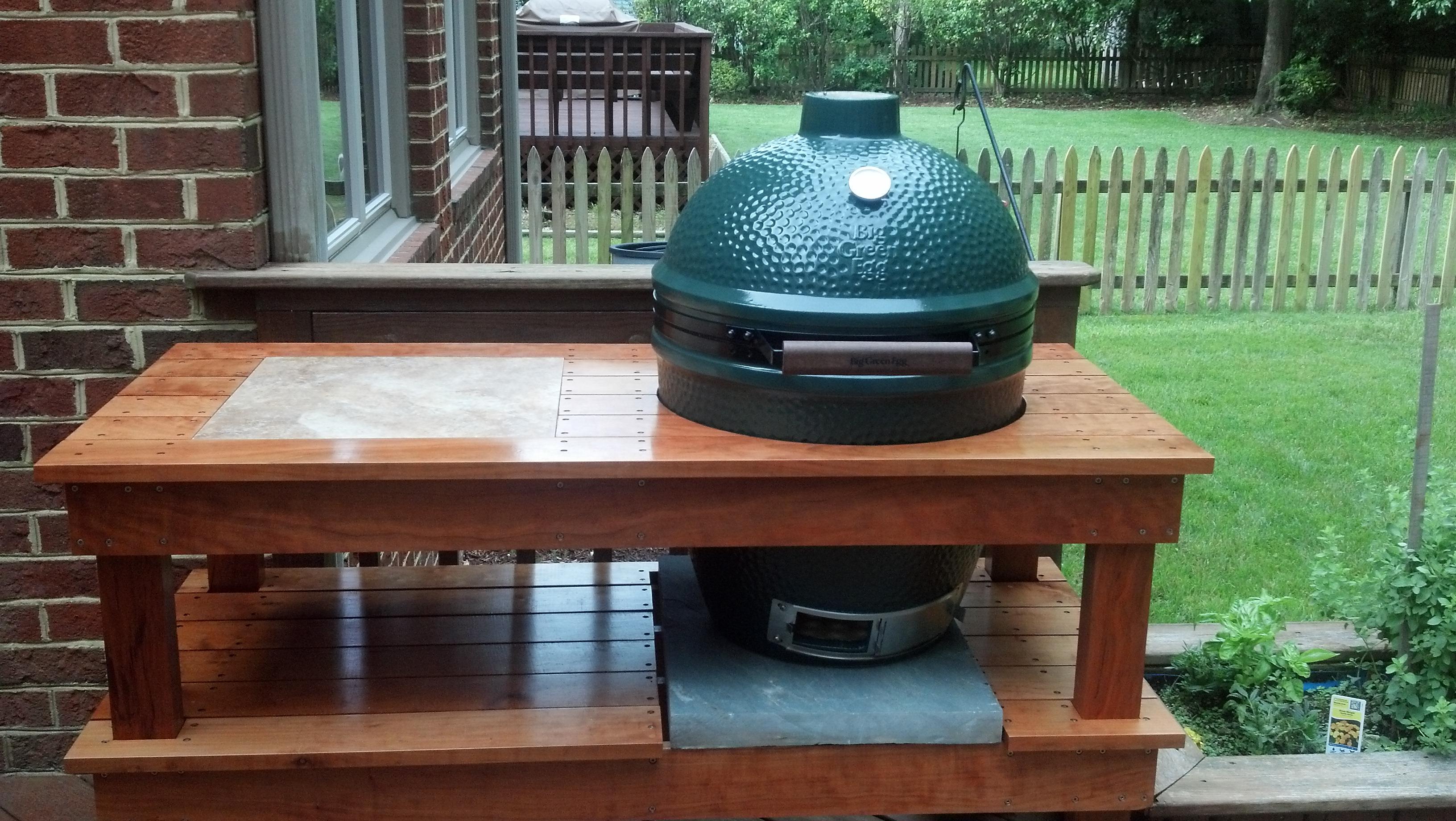 Building A Table Progress Pic Big Green Egg Egghead