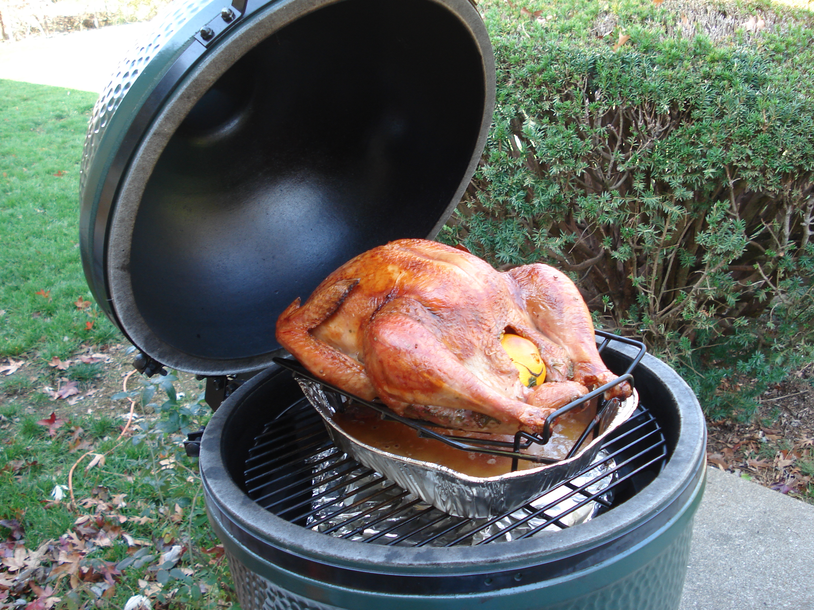 First Post First Turkey On The Bge Big Green Egg