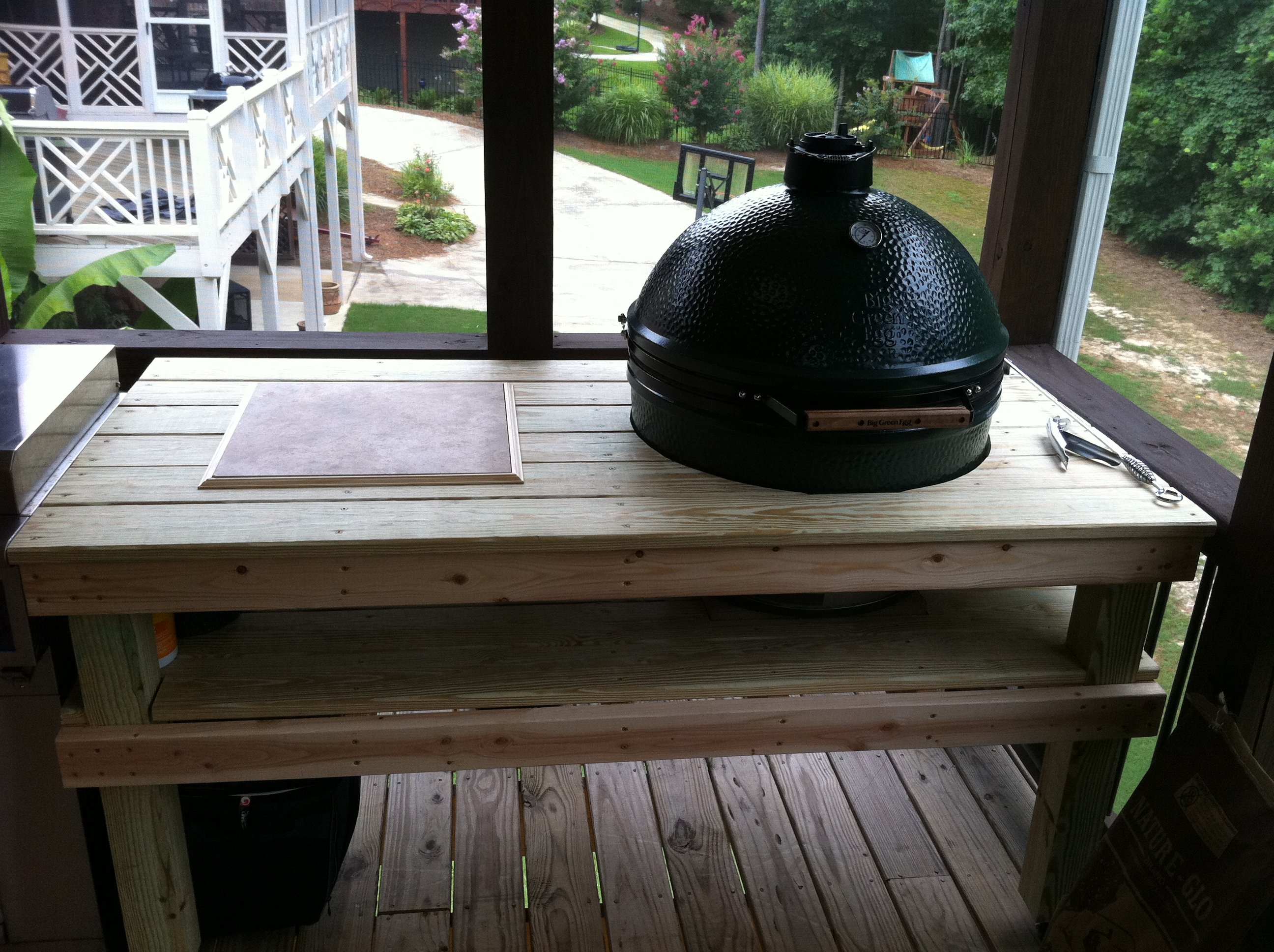 BGE XL Custom Built Table — Big Green Egg EGGhead Forum The