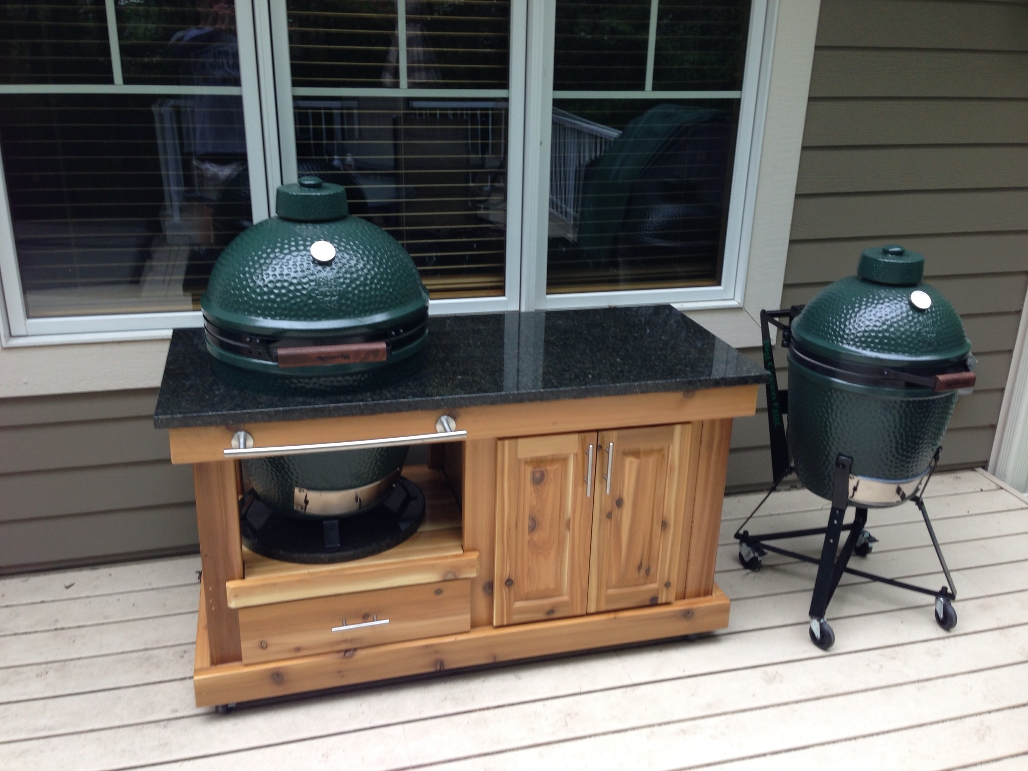 Lets See Your Set Up Pics Page 6 Big Green Egg