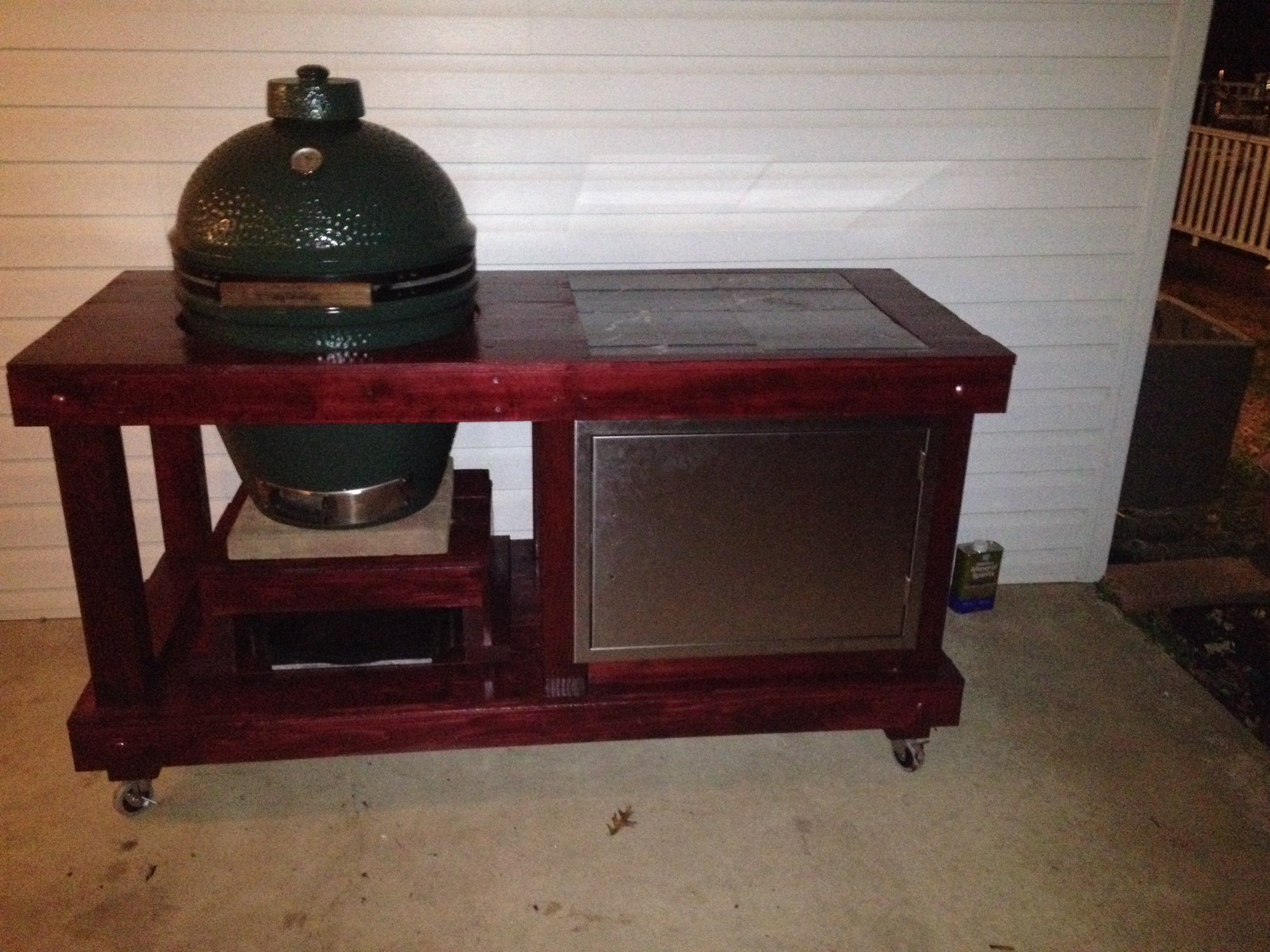 Cedar Egg Table Big Green Egg Egghead Forum The