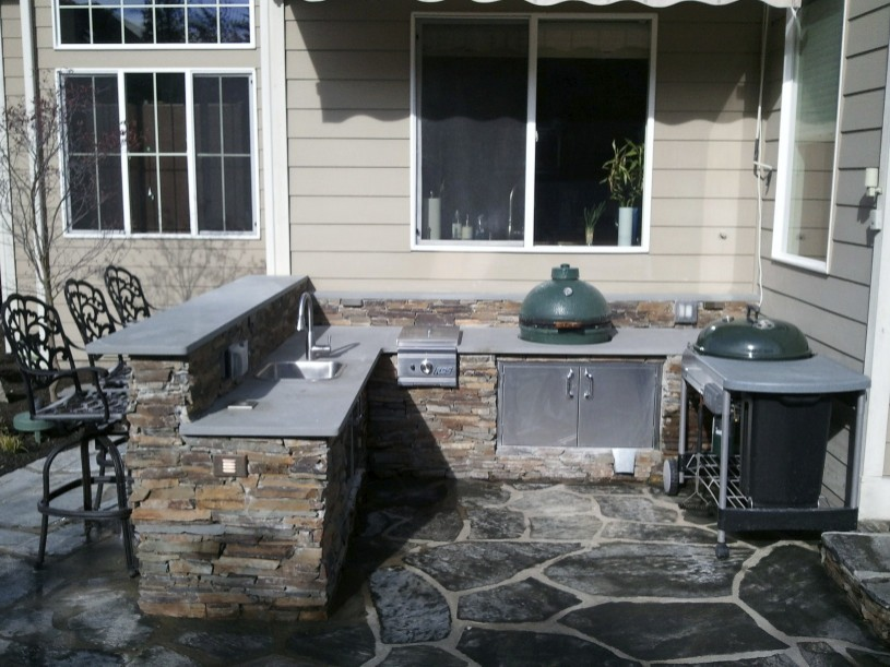 outdoor kitchen with green egg outdoor kitchen for an egg big green egg egghead forum 7246