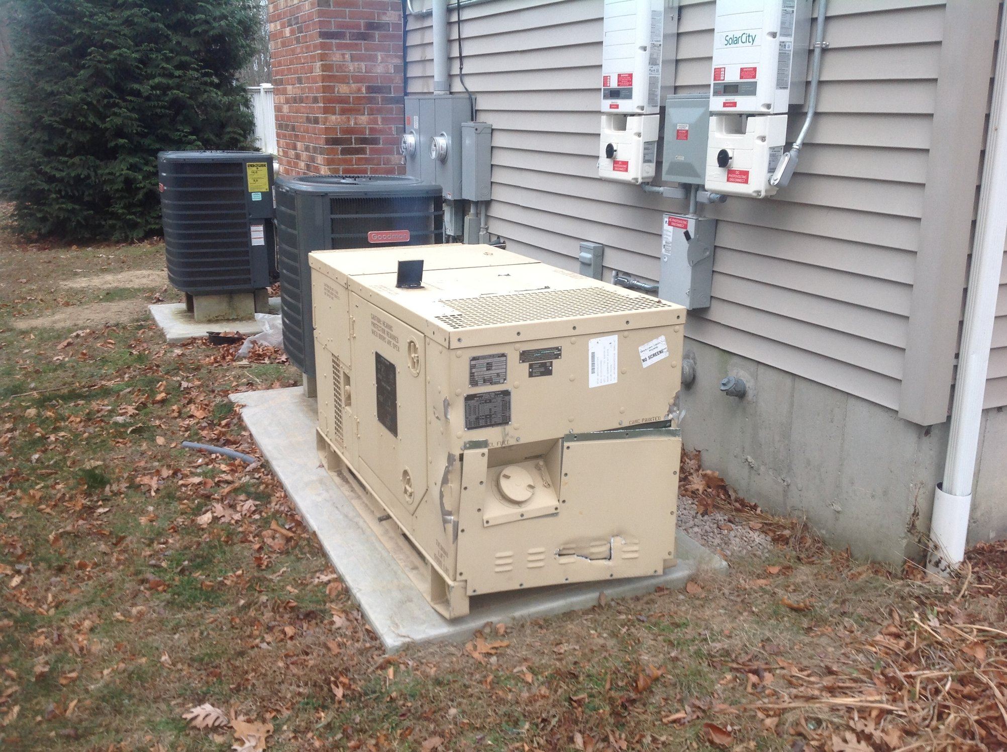 OT Electrical Requirements Needed For Appliances For Generator