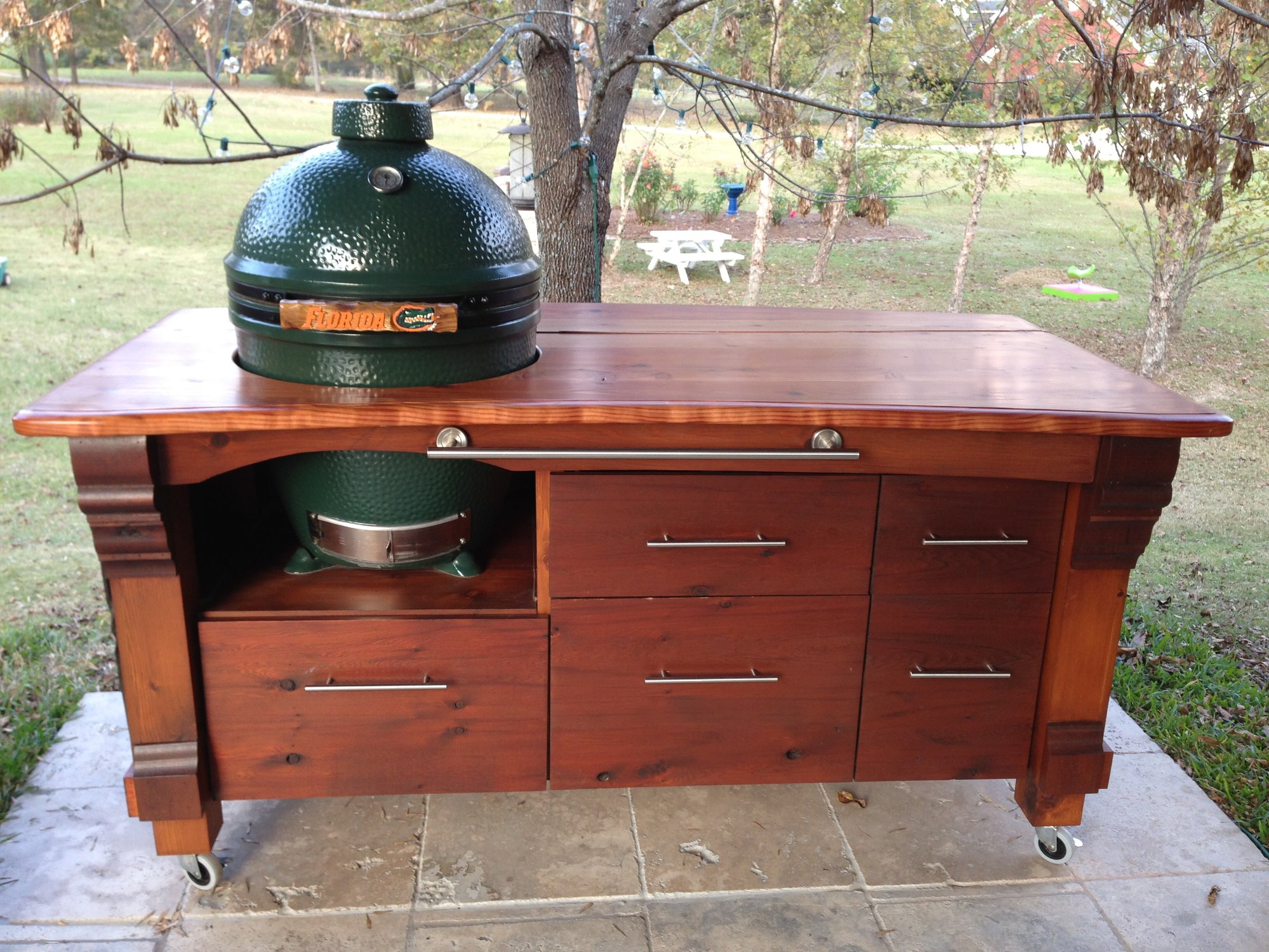 My First Amp Last Big Green Egg Table Years In Planning