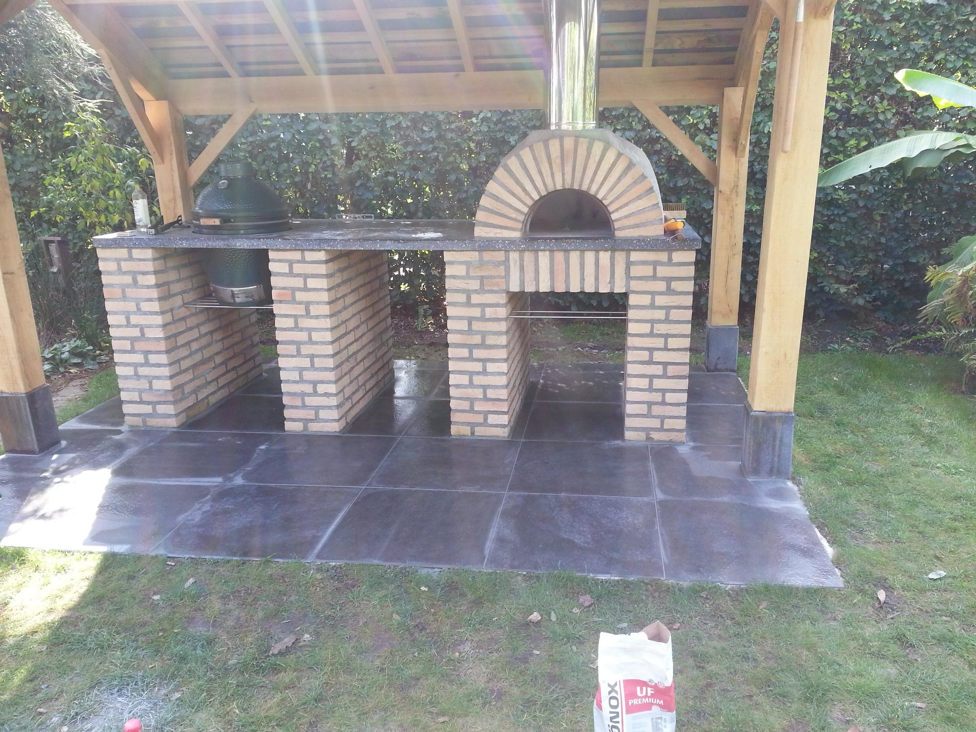 Big Green Egg Outdoor Kitchen Outdoor Kitchen With Pizza Oven And Bge Big Green Egg Egghead