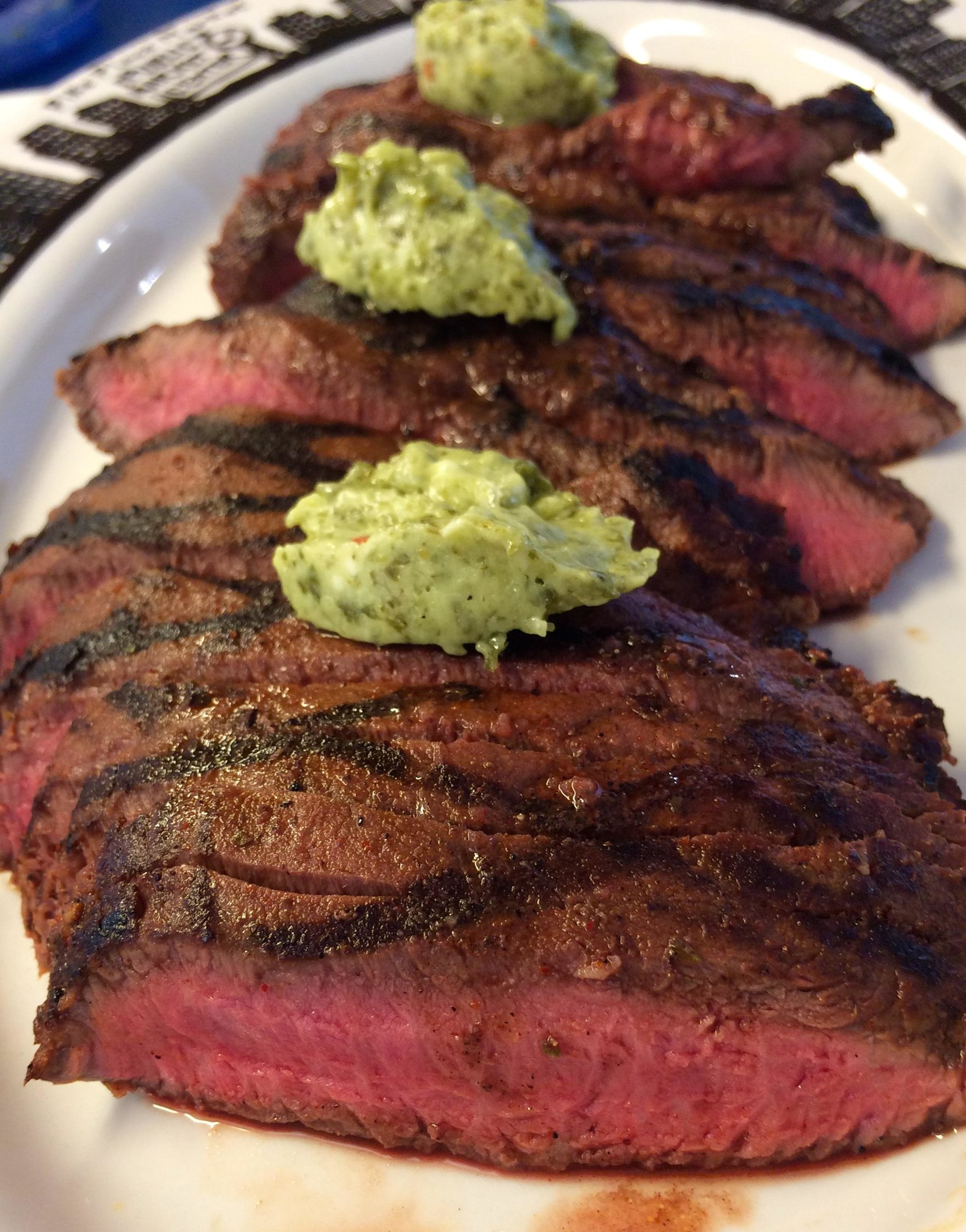Flat Iron with Chimichurri Butter — Big Green Egg - EGGhead Forum ...