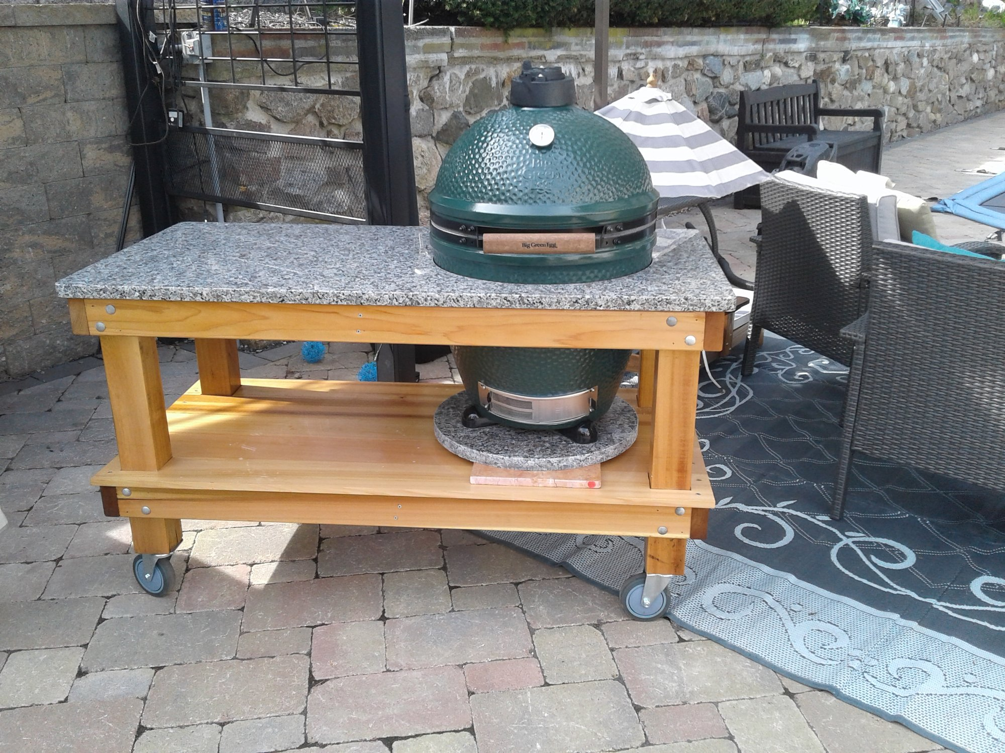 cedar table for xl bge question on egg support