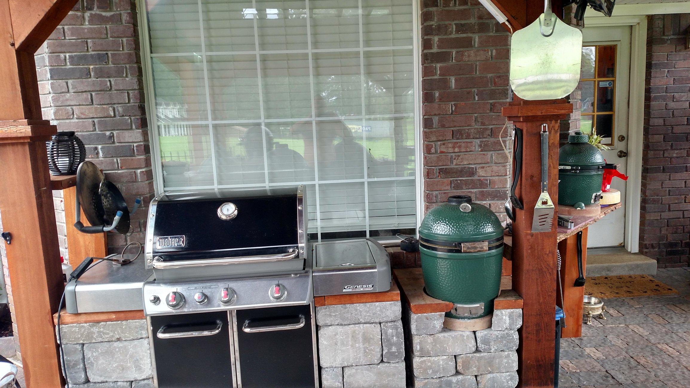 Outdoor Kitchen Weber Genesis Help Big Green Egg Egghead Forum The Ultimate Cooking