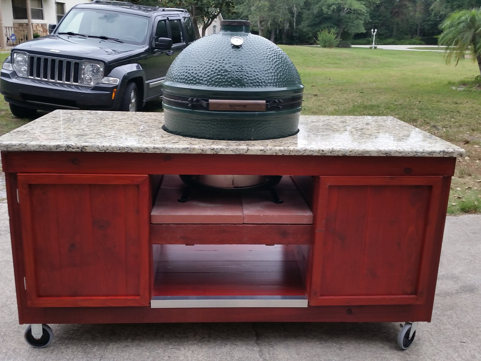XL BGE Table Heat Resistant Material Under Grill — Big Green Egg