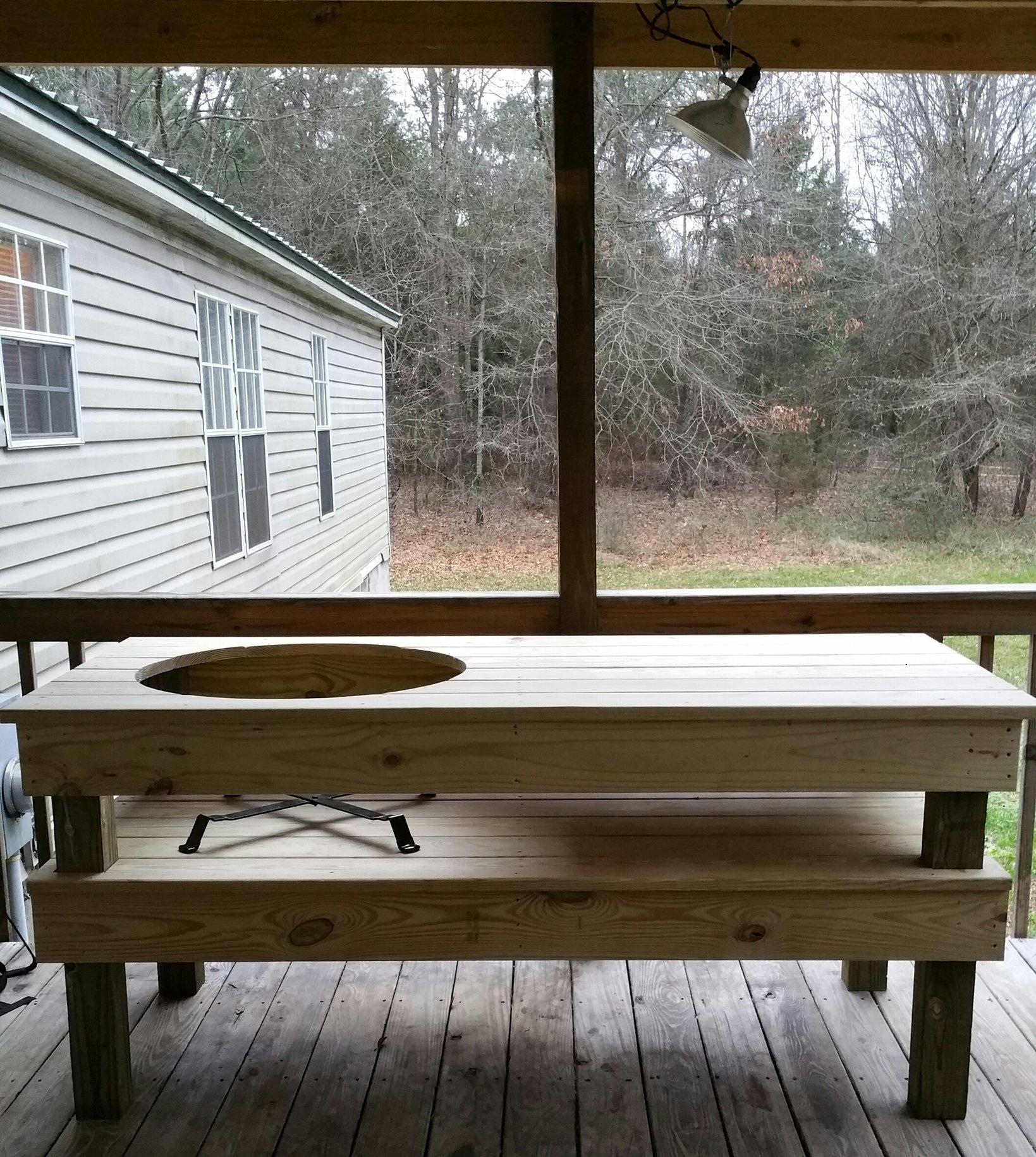 Pressure Treated XL Table Big Green Egg EGGhead Forum The - Pressure treated wood picnic table