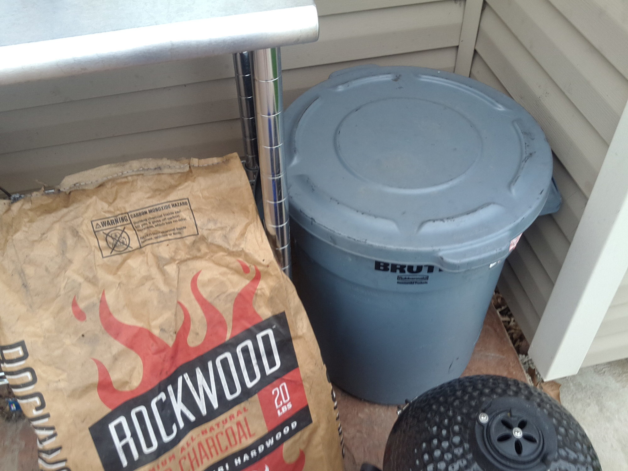 lump coal storage big green egg egghead forum the ultimate cooking experience. Black Bedroom Furniture Sets. Home Design Ideas
