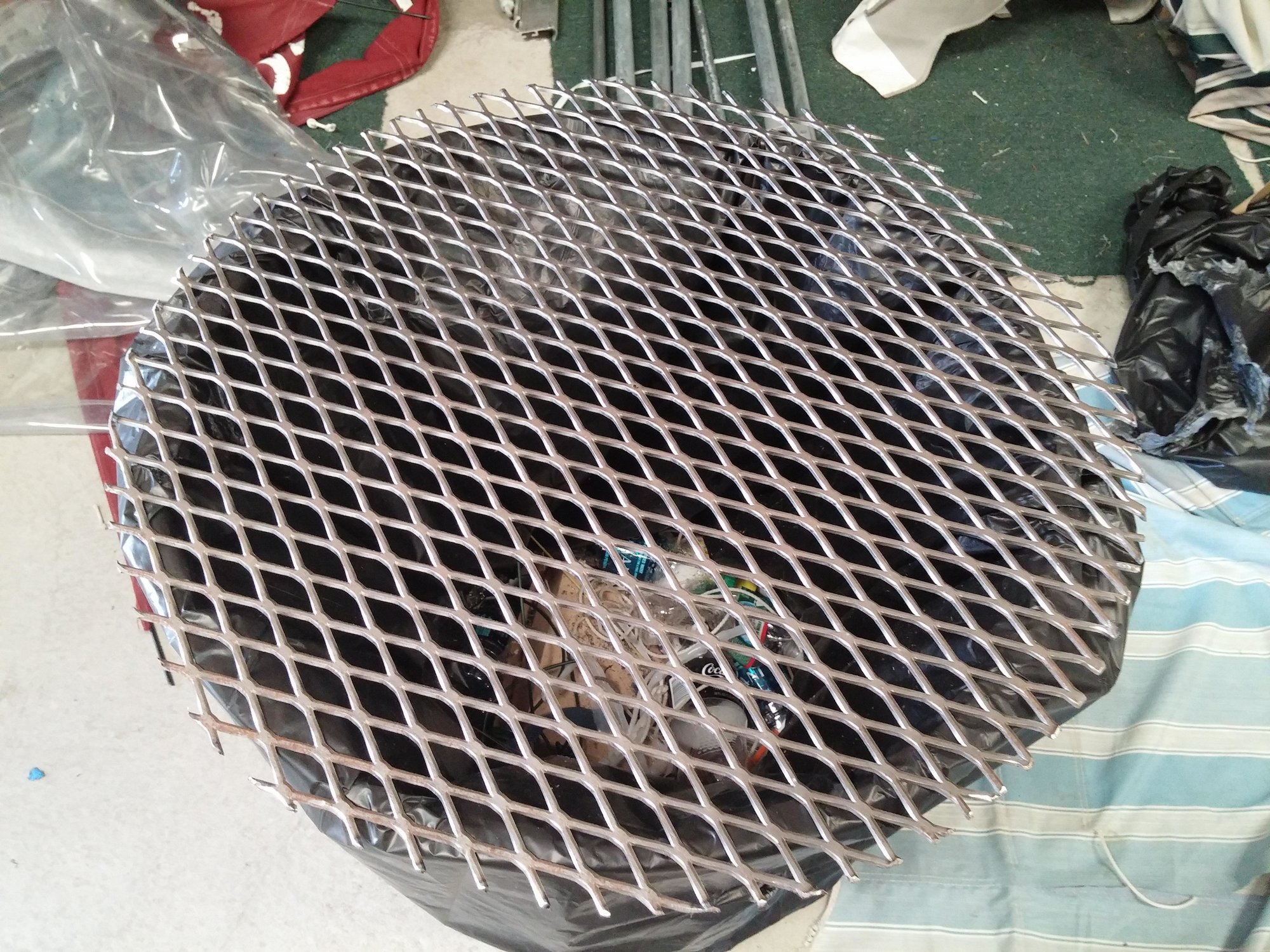 Got My Expanded Metal Grill Grate Made Partially Big