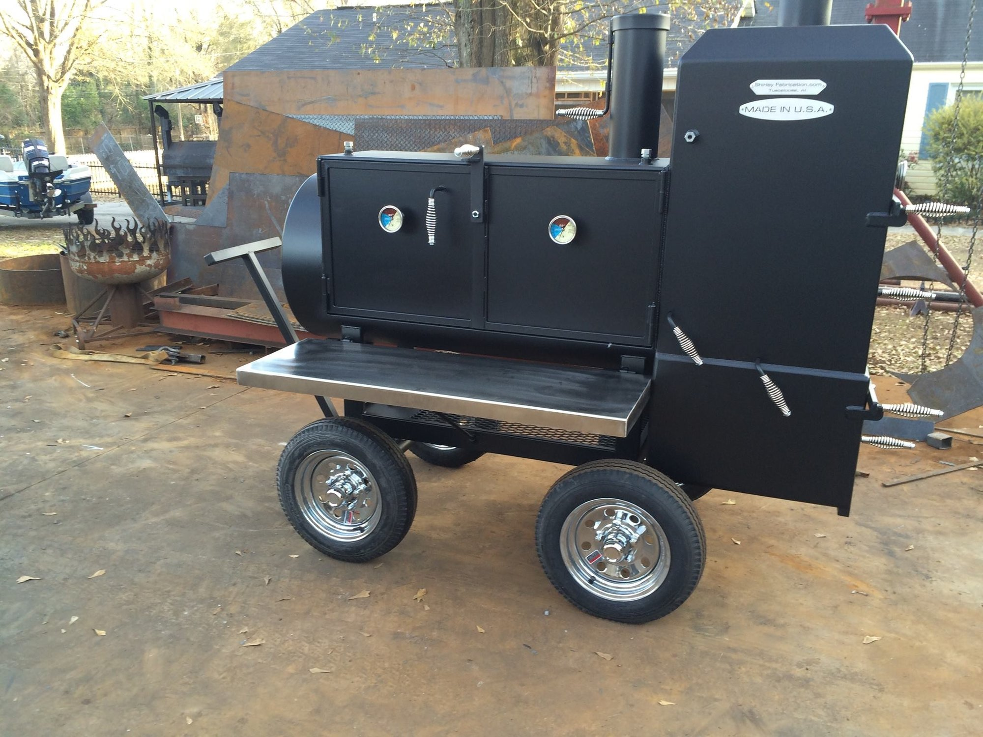 My trailer smoker has started being built! - Page 6 — Big