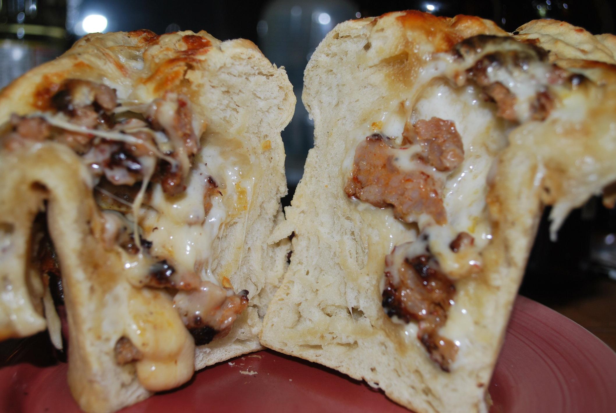 cheese stuffed bread