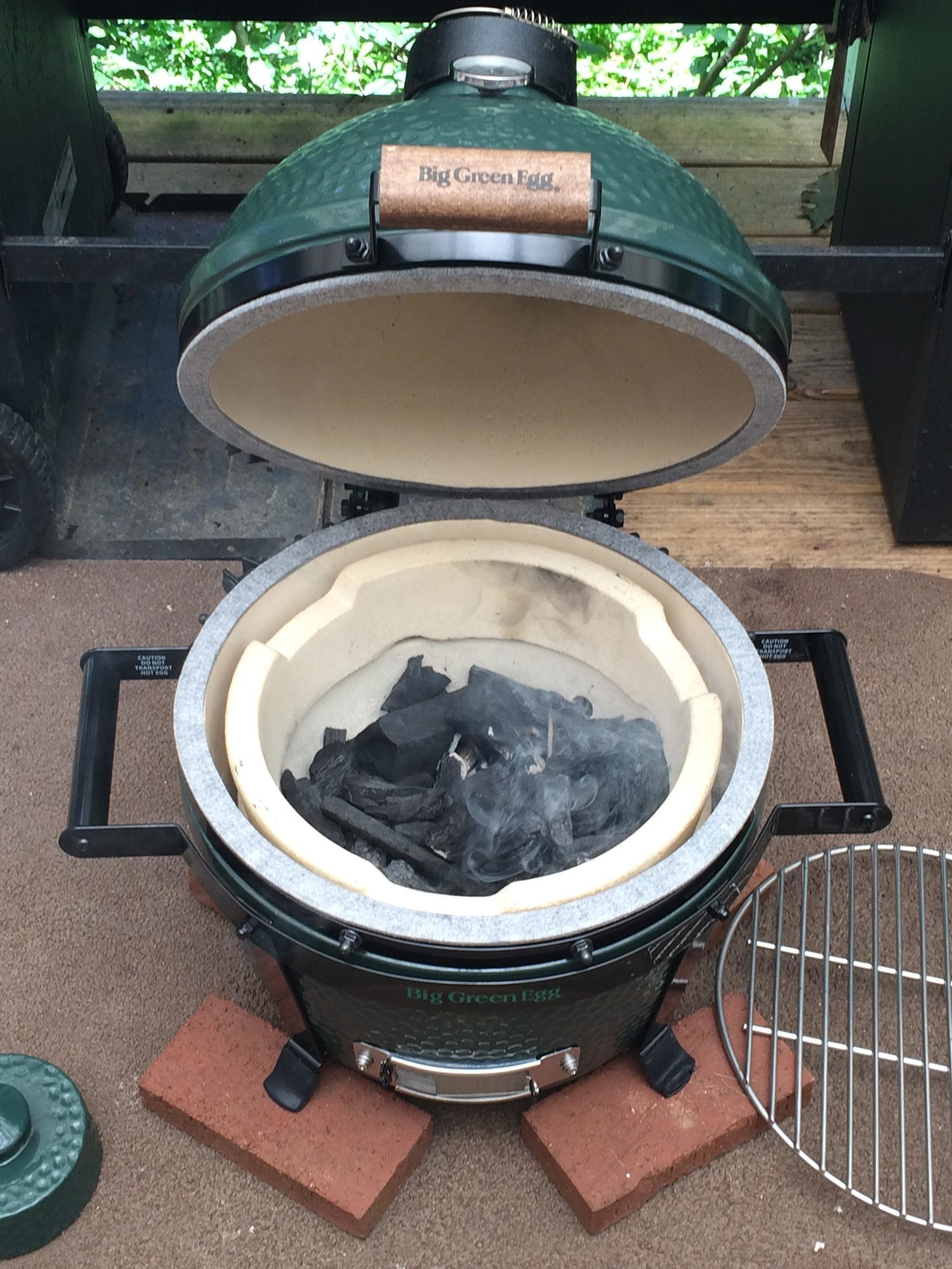 first mini max cook big green egg egghead forum the. Black Bedroom Furniture Sets. Home Design Ideas