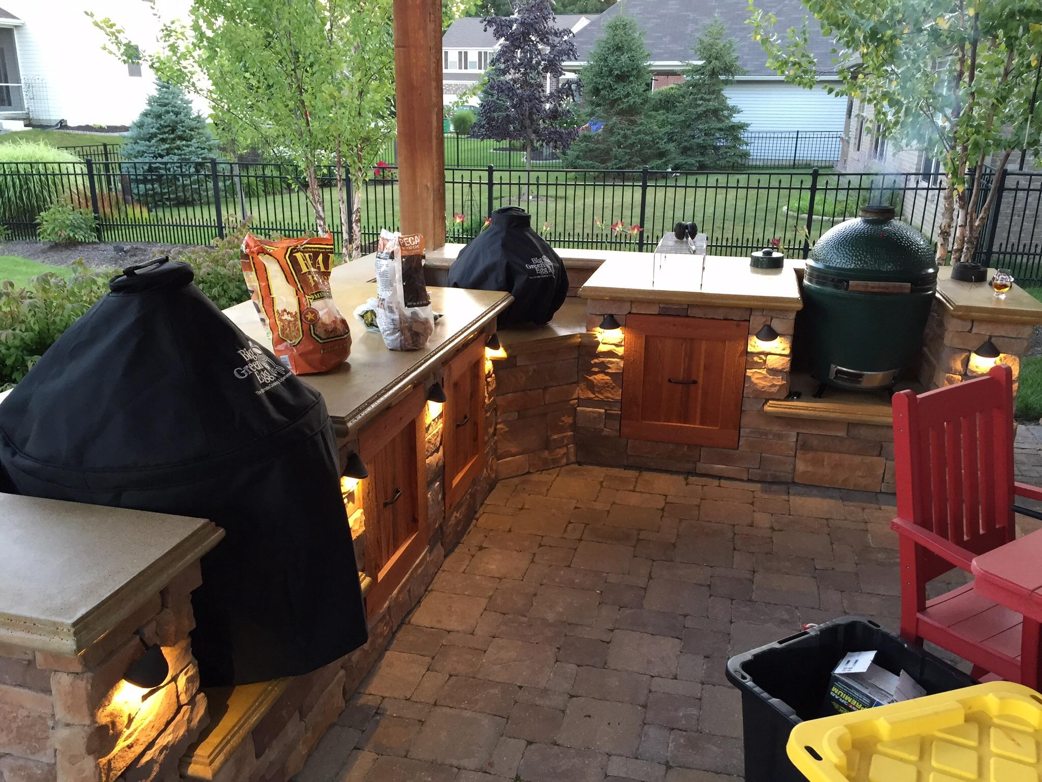 people with outdoor kitchens big green egg egghead forum the