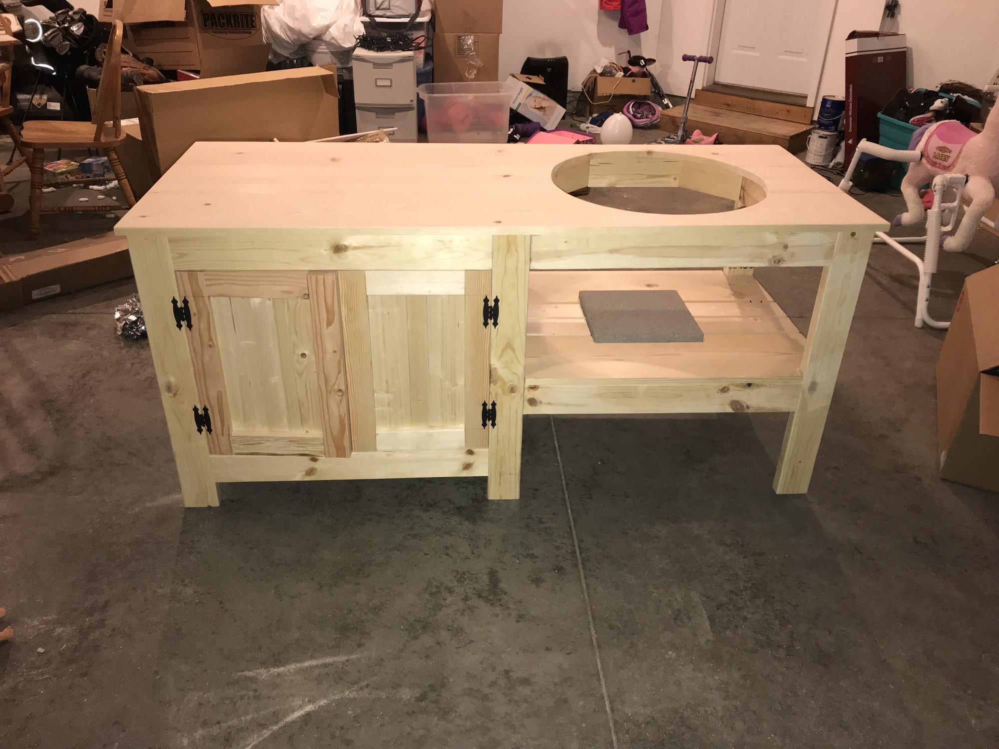 Super New Table Build Big Green Egg Egghead Forum The Download Free Architecture Designs Rallybritishbridgeorg