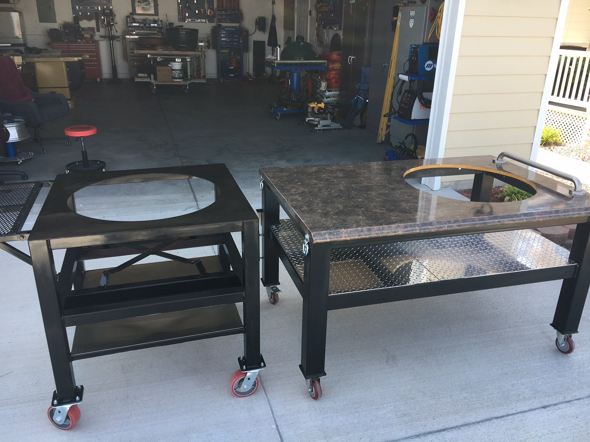 Custom Fabricated Xl Cart Table Big Green Egg Egghead