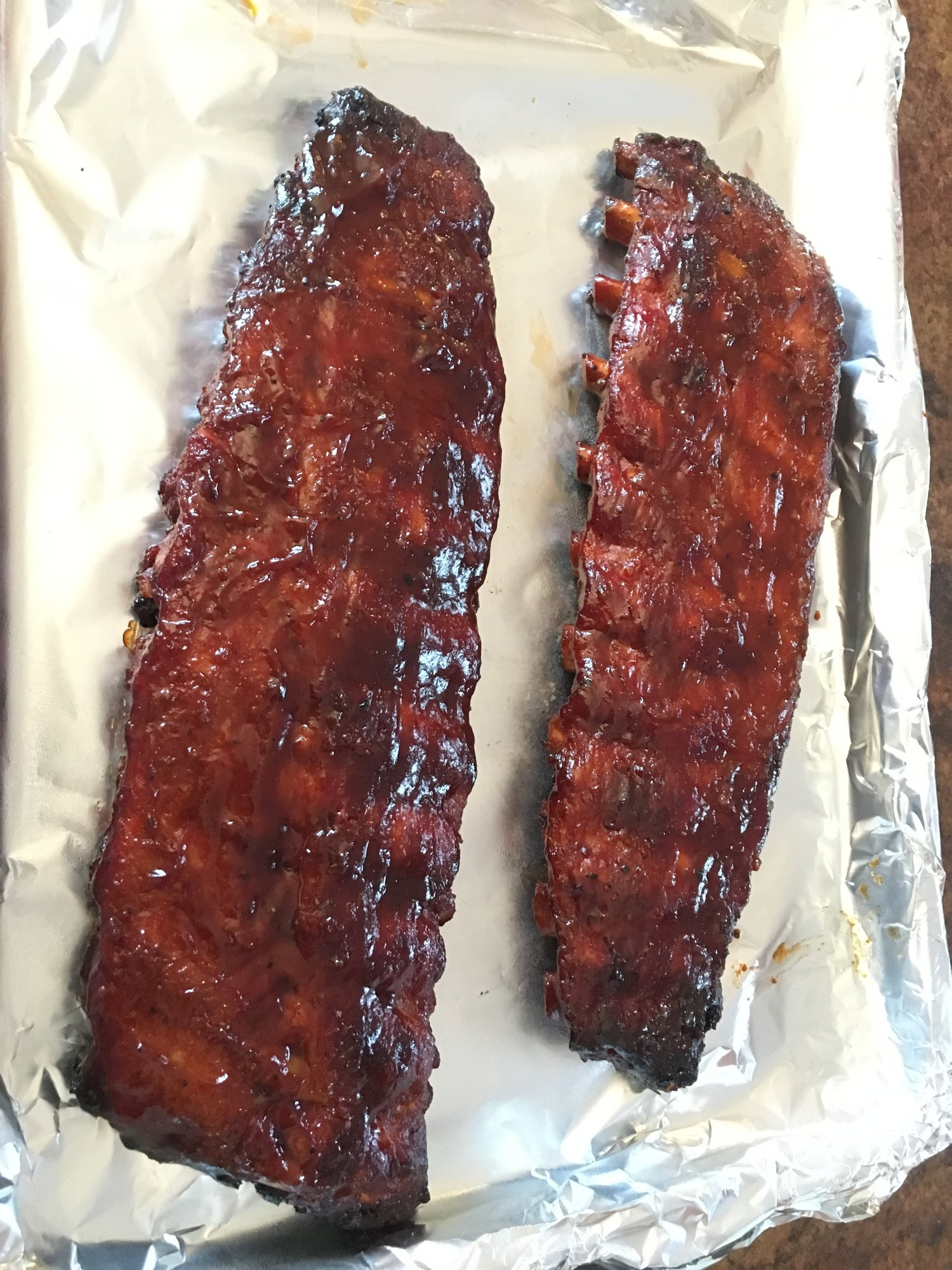 Baby Back Ribs & Maple Syrup Baked Beans — Big Green Egg ...