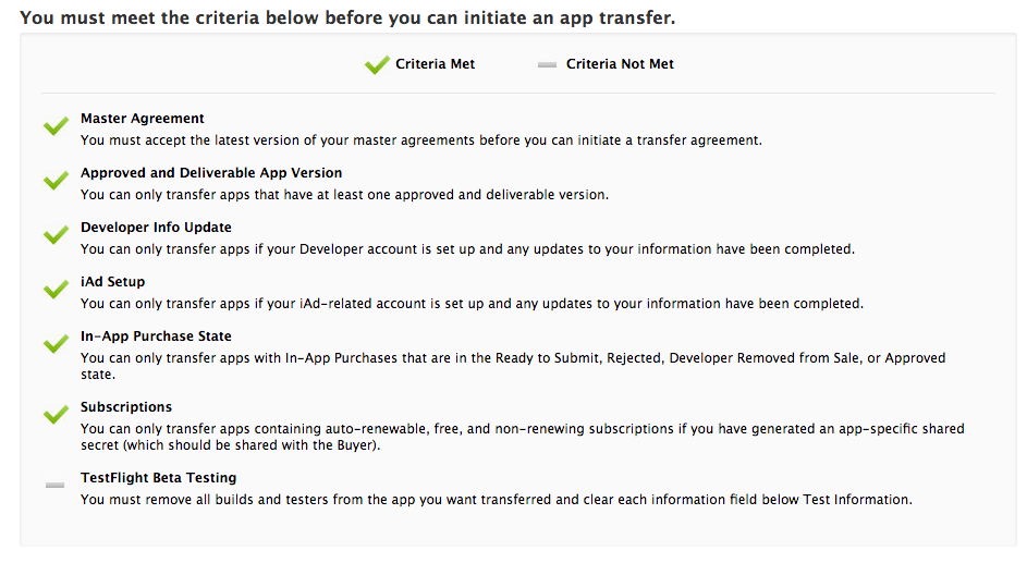 Can't transfer my app [App Store] - Must remove builds and