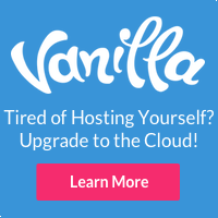 Try Vanilla Forums Cloud product