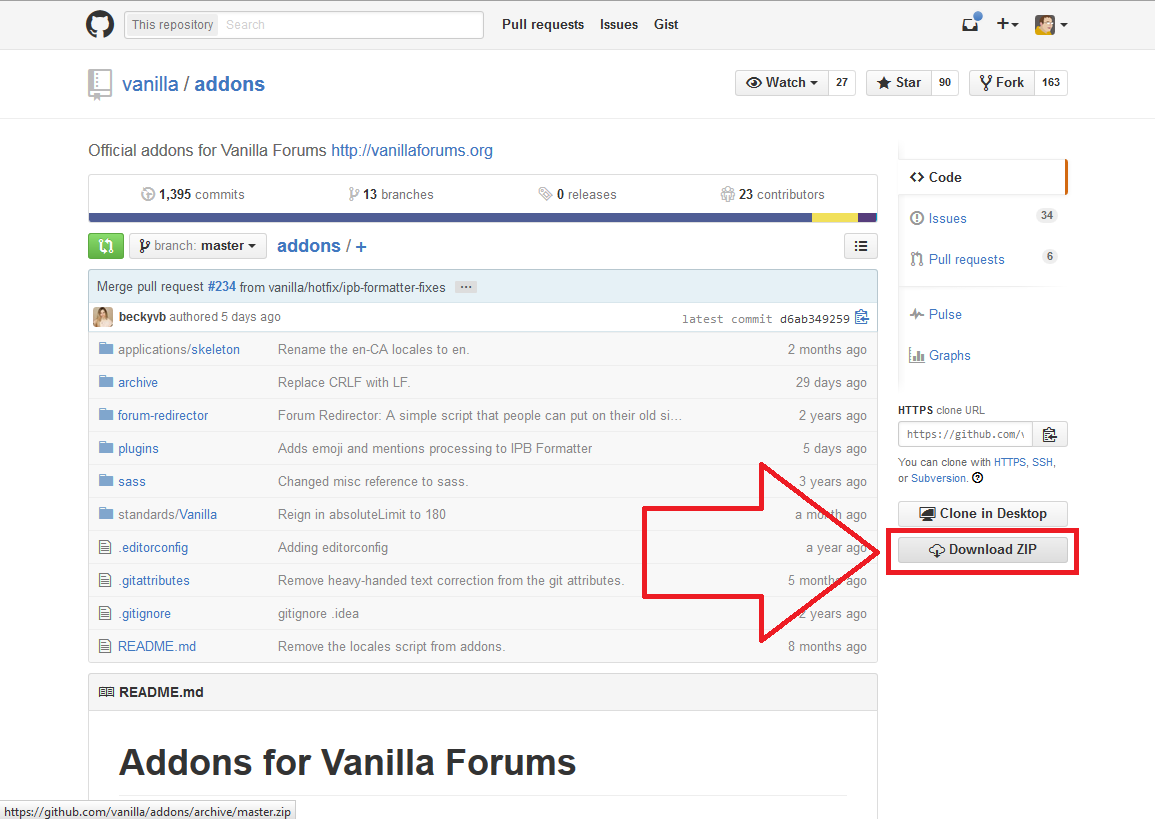 How to download from github — Vanilla Forums
